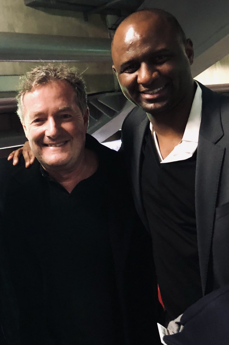 We've got the wrong ex Arsenal captain in charge. On tonight's evidence, this is the guy we need. @OfficialVieira 👇👇