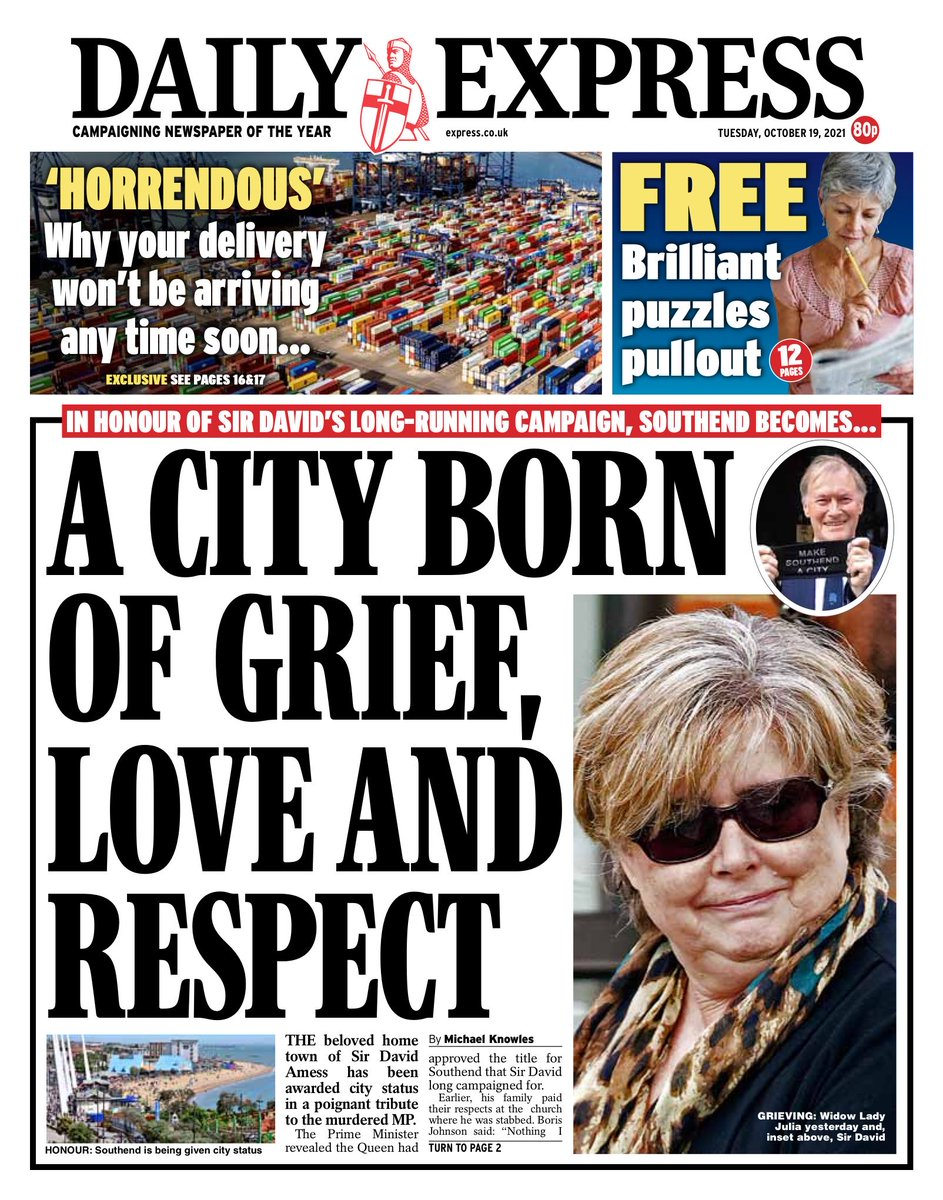 Daily Express: A CITY BORN OF GRIEF, LOVE AND RESPECT #tomorrowspaperstoday