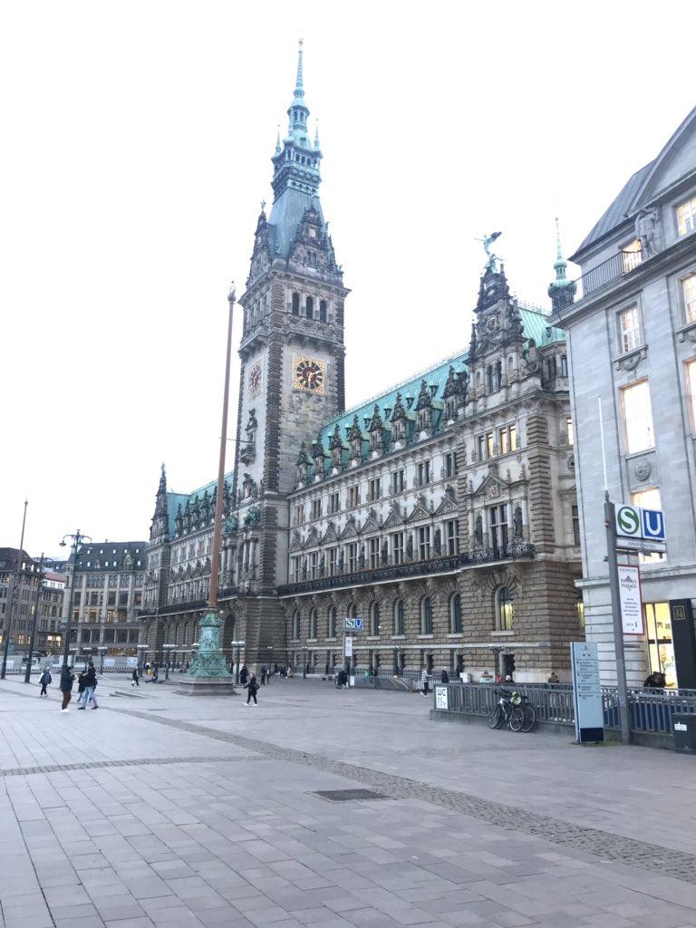 Hamburg Rathaus ⛪️🏫 Bugünün karesinden Hamburg 💙  #Rathaus #hamburg  #germany