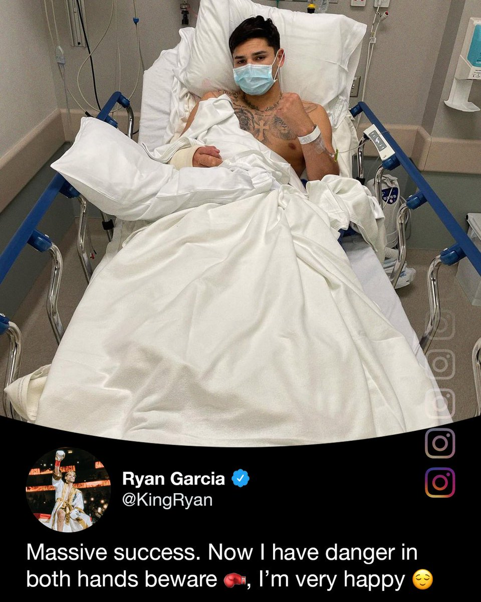 Ryan Garcia is in good spirits after a successful surgery.