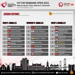 Image for the Tweet beginning: Seeded Entries #VictorDenmarkOpen2021  Withdrawn Players  MS: Shi Yu