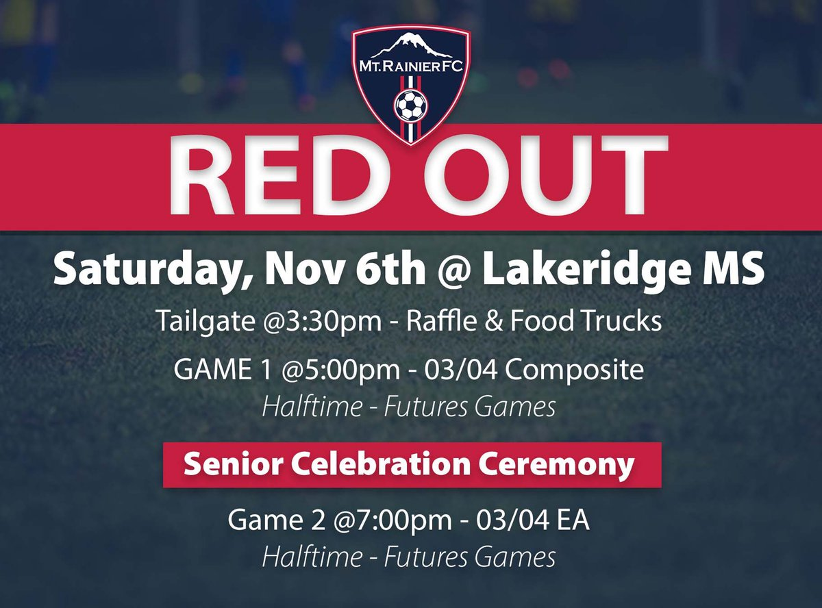 RT @mrfcsoccer: Don't forget to mark your calendars for the MRFC Boys Red Out!!   #mrfcredout #seniors #soccerplayer https://t.co/QZXOgOmwOS