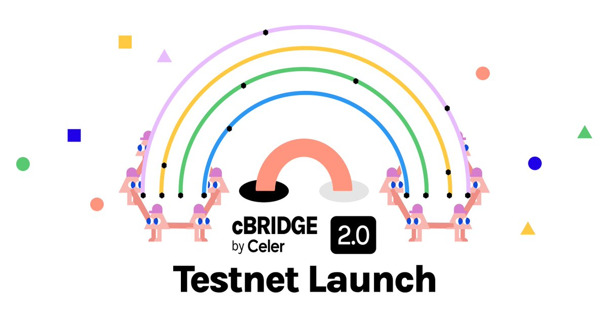 🙌cBridge 2.0 testnet is live at test-cbridge-v2.celer.network. 🥳Simpler UX: two-click -> one-click 💵Lower cost: lowest gas + efficient pricing 🌊 Easier LP/X: no need to run a node, single-click liquidity management, farming integrated 📈 Built to support billion $ vol. every day