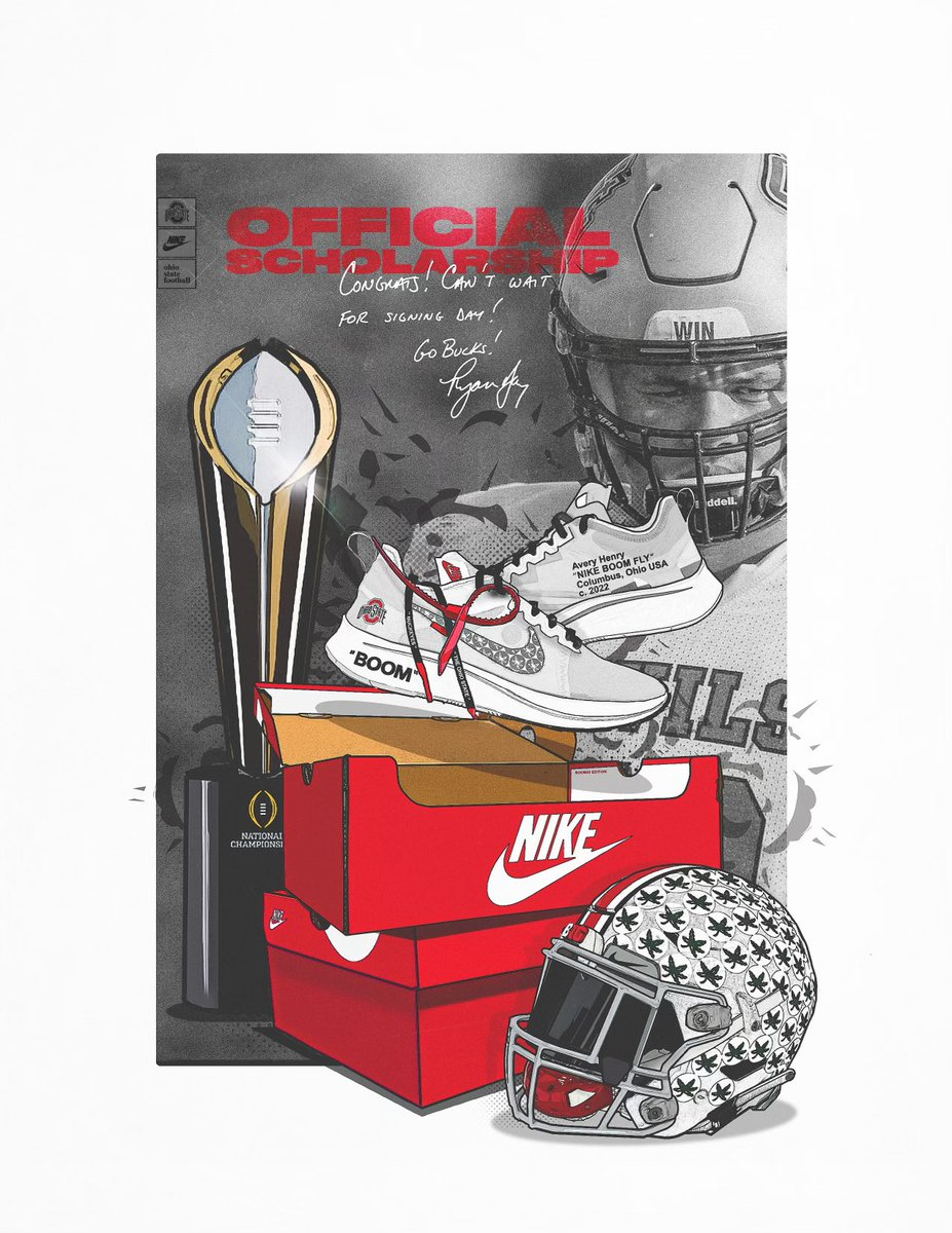 After a great talk with @CoachCookOL @CoachStudOL @ryandaytime I'm am beyond excited to announce I have received an official scholarship to The Ohio State. @BarstoolOSU @OhioStateFB #FamilyFirst #Wehungry #LETSSSGOOO