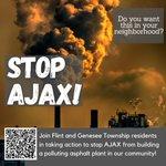 Imagen del comienzo del Tweet: Flint no necesita otro contaminador.