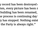 """Image for the Tweet beginning: """"Every record has been destroyed/falsified,"""