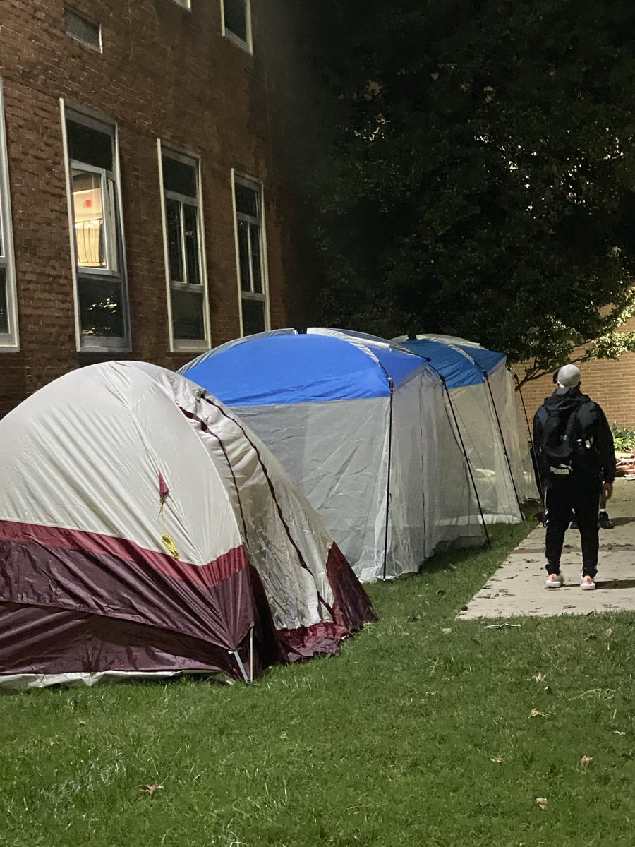 As colder temperatures hit DC, Howard students continue to insist on their demands while living in tents on Howard's campus #BlackburnTakeover