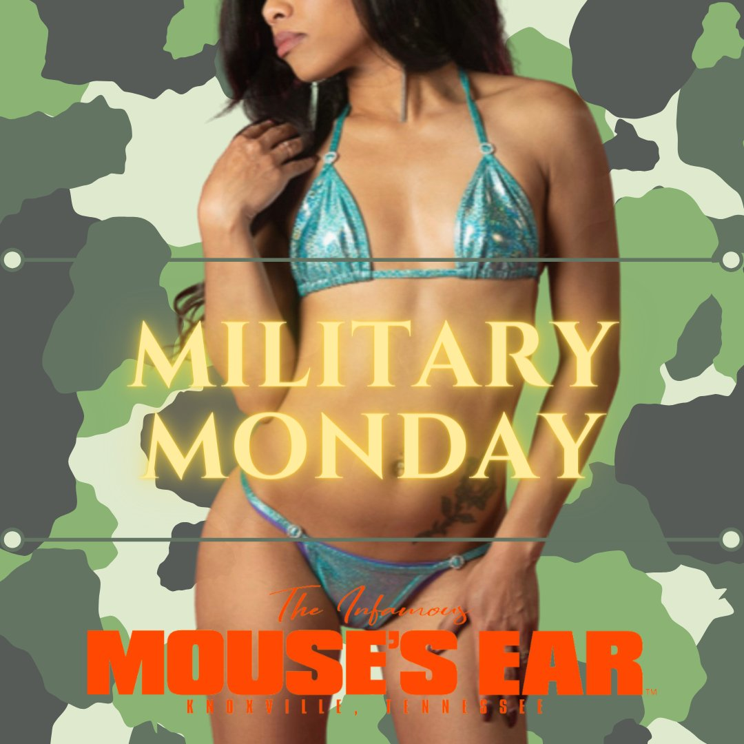 VIOLET, LEO, KANDY are making folks stand at attention on Military Monday. Come and get saluted. 😘  . . . #Rollcall #MilitaryMonday #MondayFunday #Sexy #Showgirls #MousesEar #Knoxville #StripJoint #StripClub