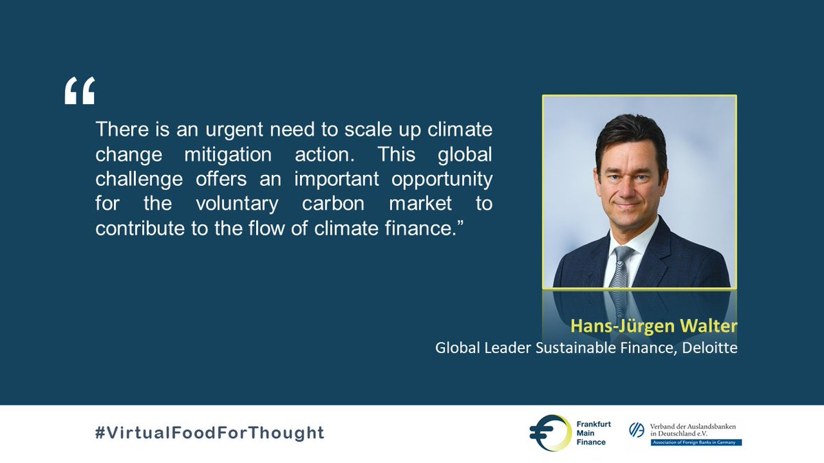Thank you for the exciting insights, Hans-Juergen Walter!  💡 If you missed our #VirtualFoodforThought with the global leader #sustainablefinance of @Deloitte, you will find the presentation and the video recording on our website tomorrow.