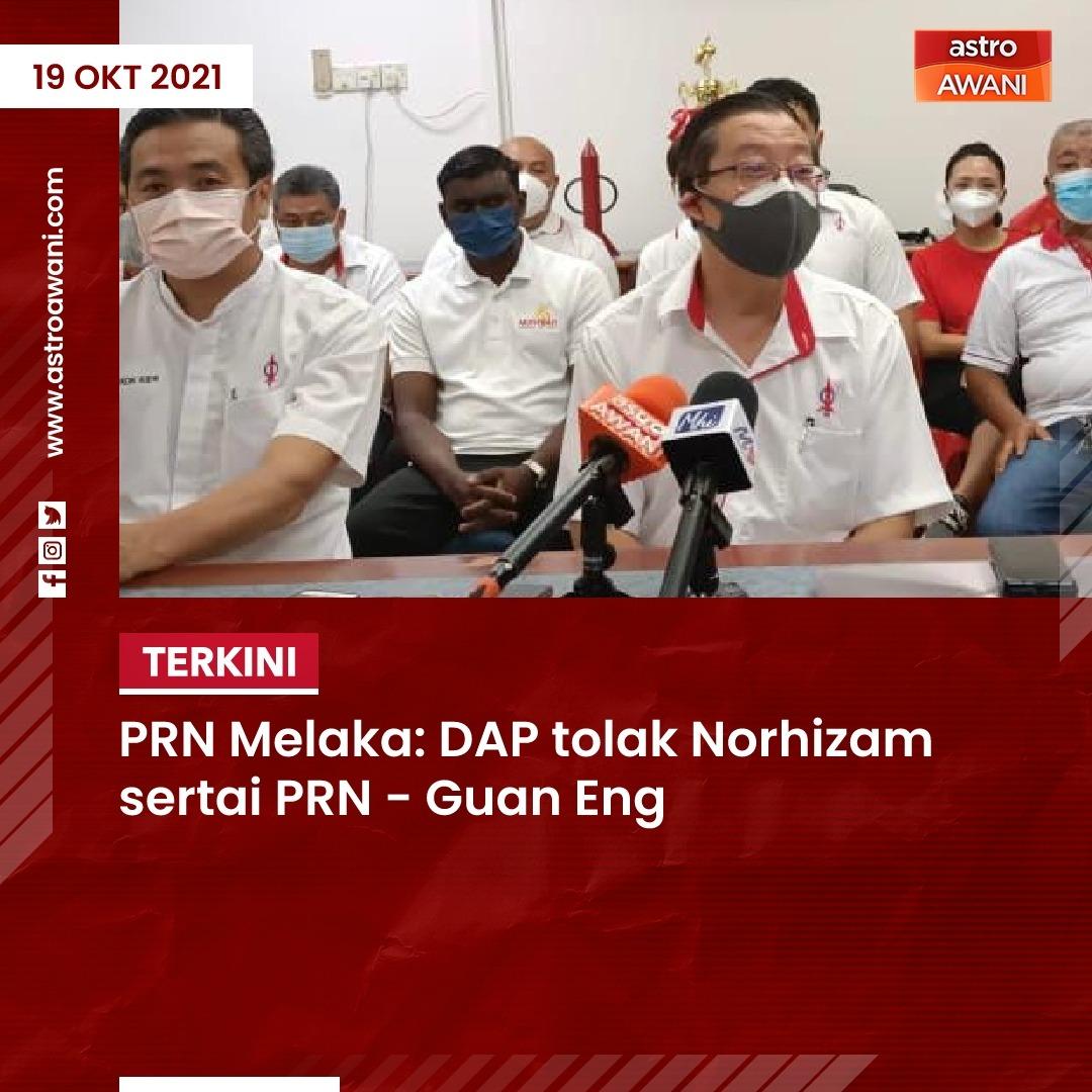 """""""Saya tidak mahu sebut (alasan), tak payah pergi pada asal usulnya semua pun tahu, DAP tetap tidak terima dia sebagai calon dalam PRN negeri,"""" kata Setiausaha Agung DAP, @guanenglim dalam sidang media di pejabat DAP Melaka, di sini pada Selasa. #MelakaMemilih #PolitikMalaysia"""