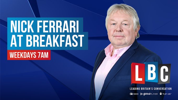"""Good morning... On the show: - Calls for action on online abuse to be """"toughened up"""" and bill renamed """"David's Law"""" -England are handed a stadium ban from Wembley after Euros chaos - Four in hospital after explosion in a South Ayrshire home I'm on @LBC Call 0345 60 60 973"""