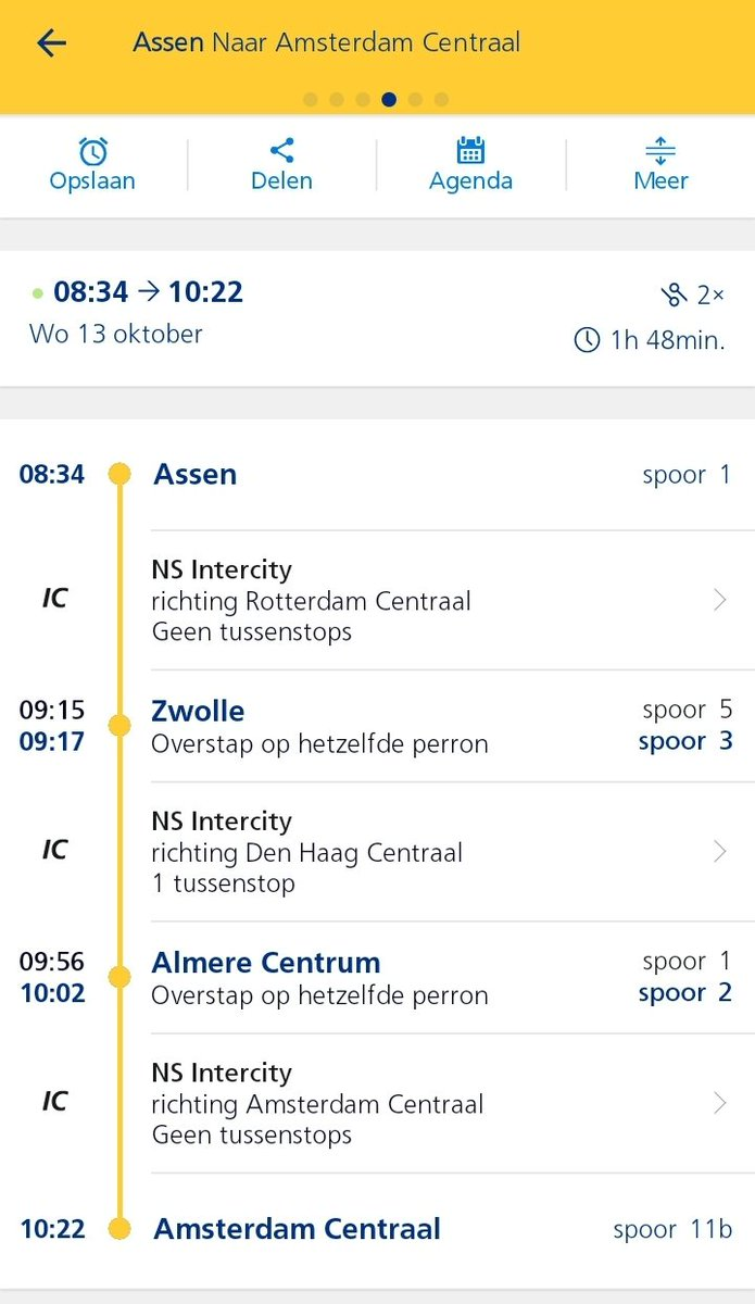 test Twitter Media - @NS_online Ik reis tussen Assen - Amsterdam CS. In de oude situatie reed op het halve uur 11:34, 12:30 etc.) een trein tussen Groningen - Rotterdam. Dat is nu een directe trein Groningen - Amsterdam.  Blijft de directe verbinding Groningen Amsterdam vanaf nu? (Foto vorige week en nu) https://t.co/At9mDPE32Q
