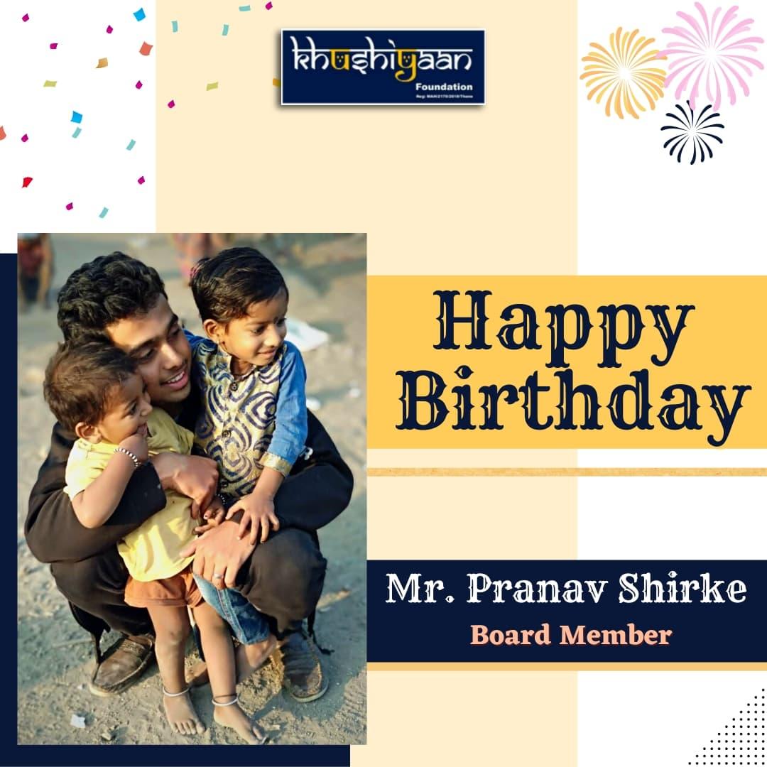 Team Khushiyaan wishes you a very Happy Birthday and abundance of Happiness @pranaavshirke Sir. . Stay blessed.❤️ . #happybirthday #birthdayvibes #happybirthday #instabirthday #hbd #ismybirthday #birthdayboy #birthdaycelebration #birthdayparty #bday