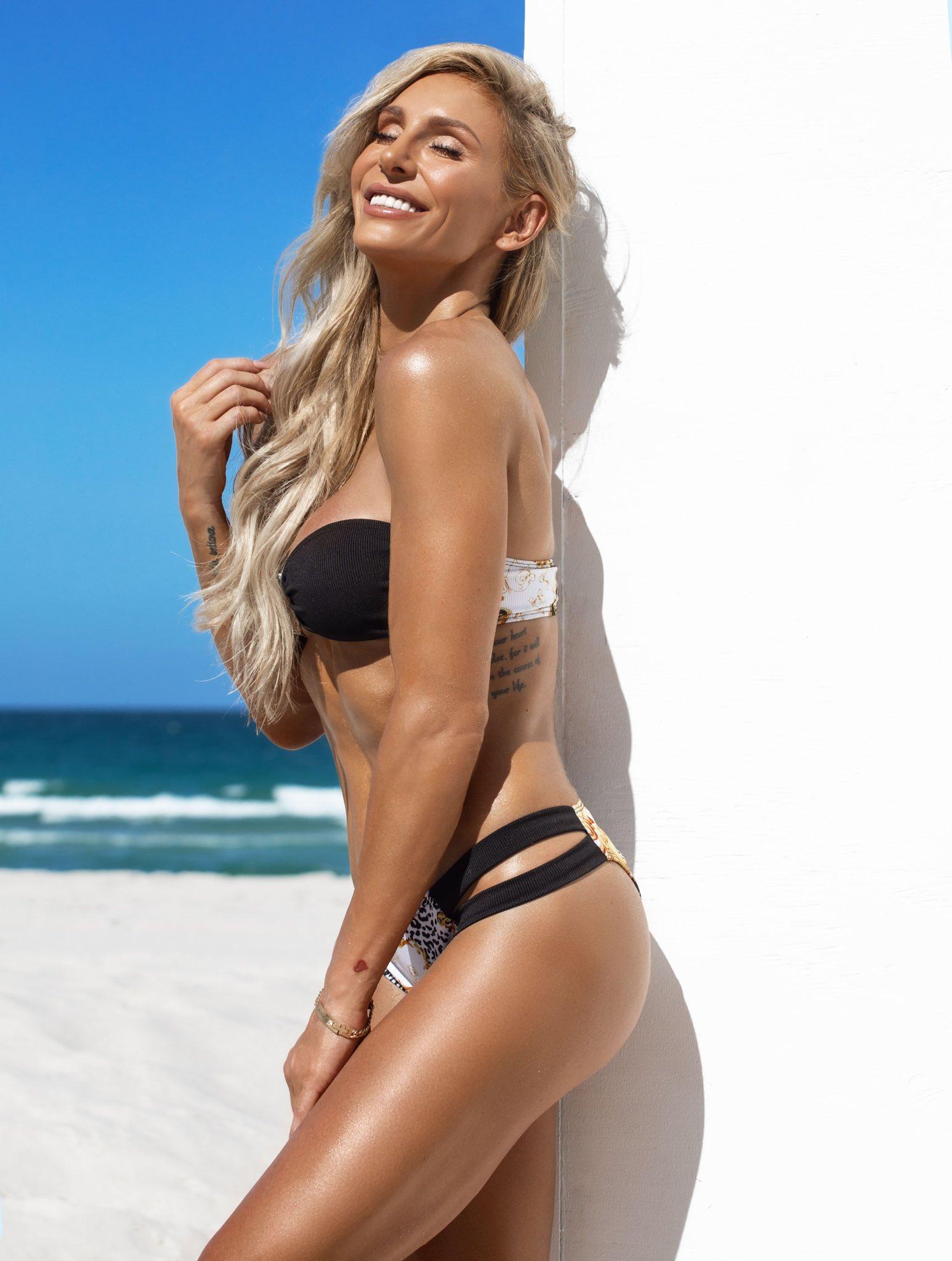 WWE Star Charlotte Flair Posts Her Latest Bikini Photo From Miami Beach 38