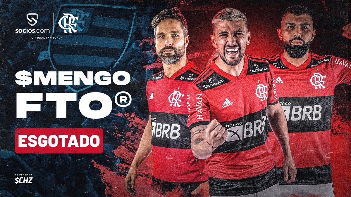 Fan token do Flamengo esgotado!  #FlaENM