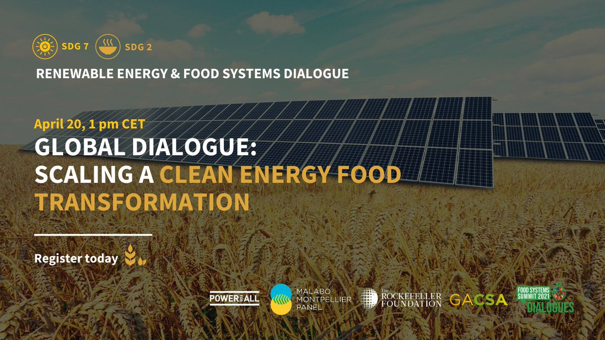 test Twitter Media - #ICYMI: @Power4All2025 @GACSA_news @RockefellerFdn and @MaMoPanel co-organized a global dialogue about the most innovative approaches to unlock the potential of Renewable Energy to transform #FoodSystems in Africa & Asia.   Watch the event: https://t.co/L6yG5zGdpg https://t.co/72cUc9xxAt