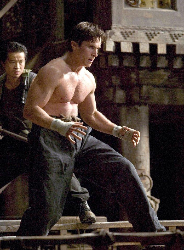 Christian Bale. The Machinist (2004) - Batman Begins (2005)