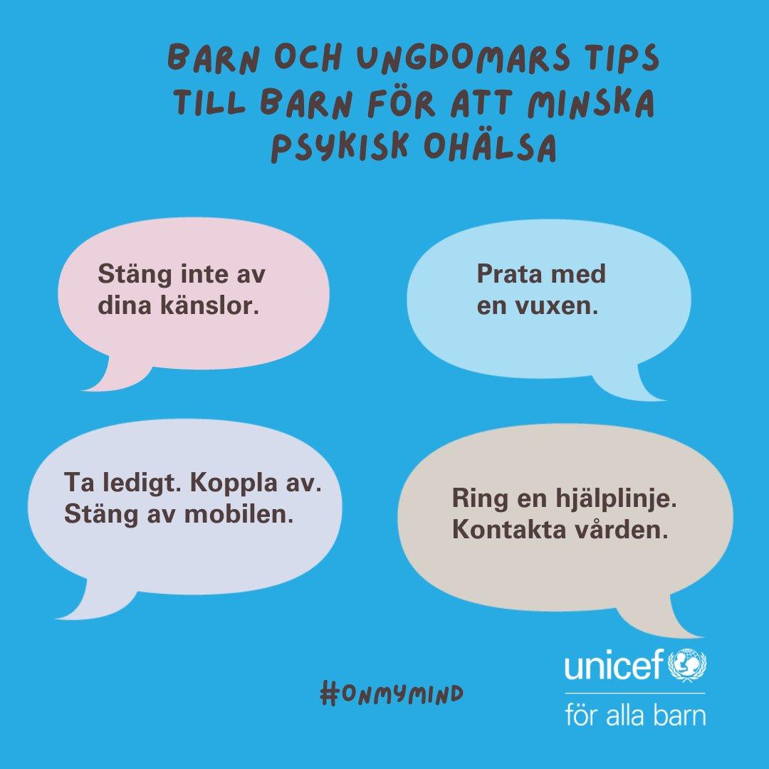 """Imorgon släpps vår nya rapport """"Lyssna - vi har något att säga!"""" om barns psykiska hälsa i Sverige. Missa inte vårt live webinar imorgon kl 11.00. Anmäl dig idag! https://t.co/oIZYolMqu5 #OnMyMind @trygghansa @karolinskainst https://t.co/MEyW01iYWx"""