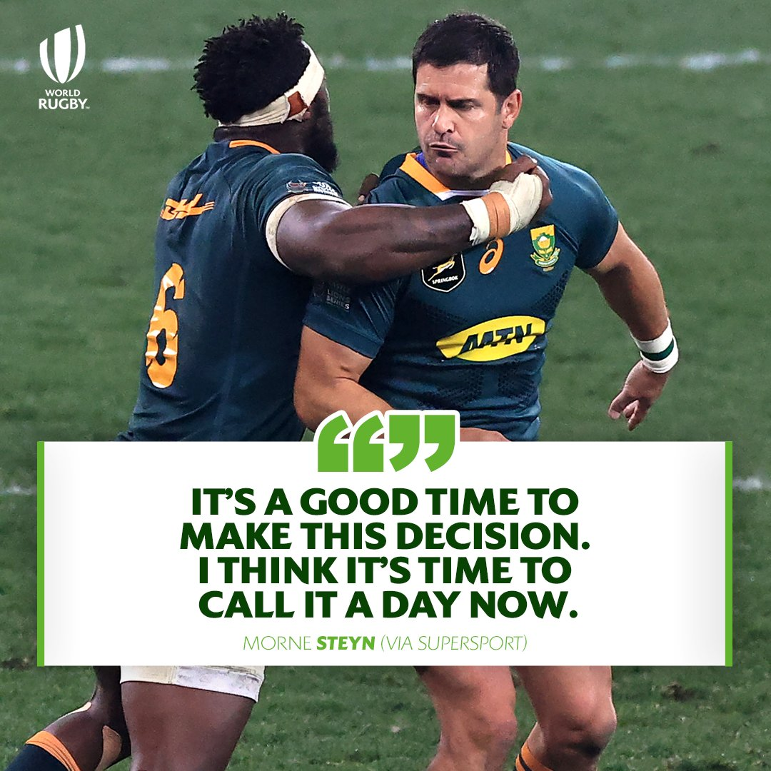 test Twitter Media - 🇿🇦 With 68 @Springboks Tests and 742 points to his name, @mornesteyn has announced his retirement from international rugby https://t.co/Si3UD6Mc1u