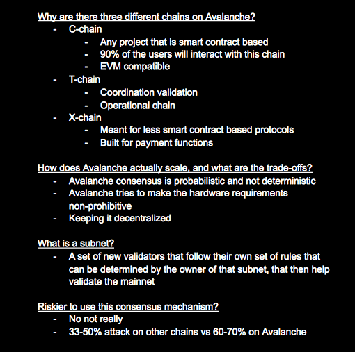 1/ Podcast notes on @theBlockcrunch episode with @jayks17 and @_nMoose from Ava Labs: - Avalanche vs other chains🤖 - Rush incentive program🔥 - Multi-chain world🌎