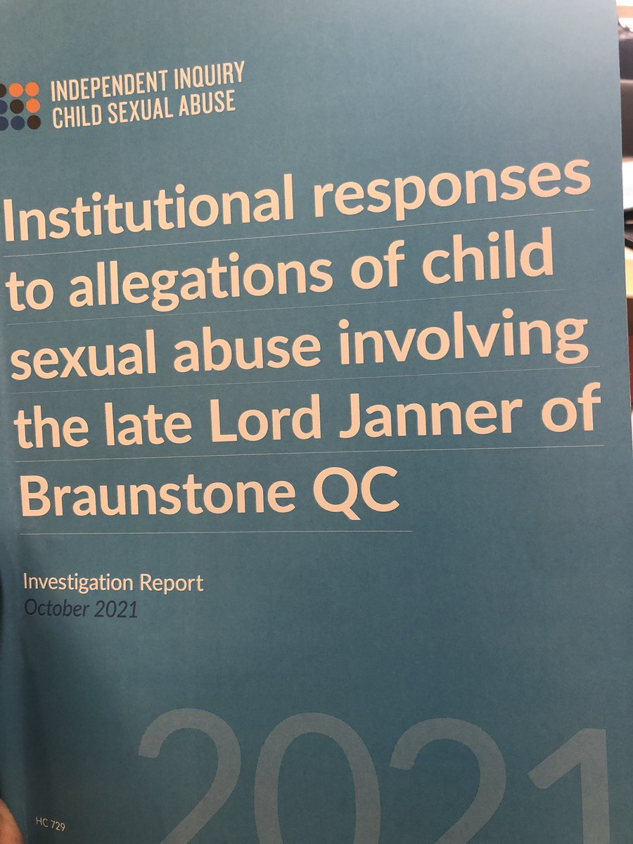 IICSA report says there were multiple failings by Institutions in their response to child sexual abuse claims against Lord Janner over decades @ITVCentral