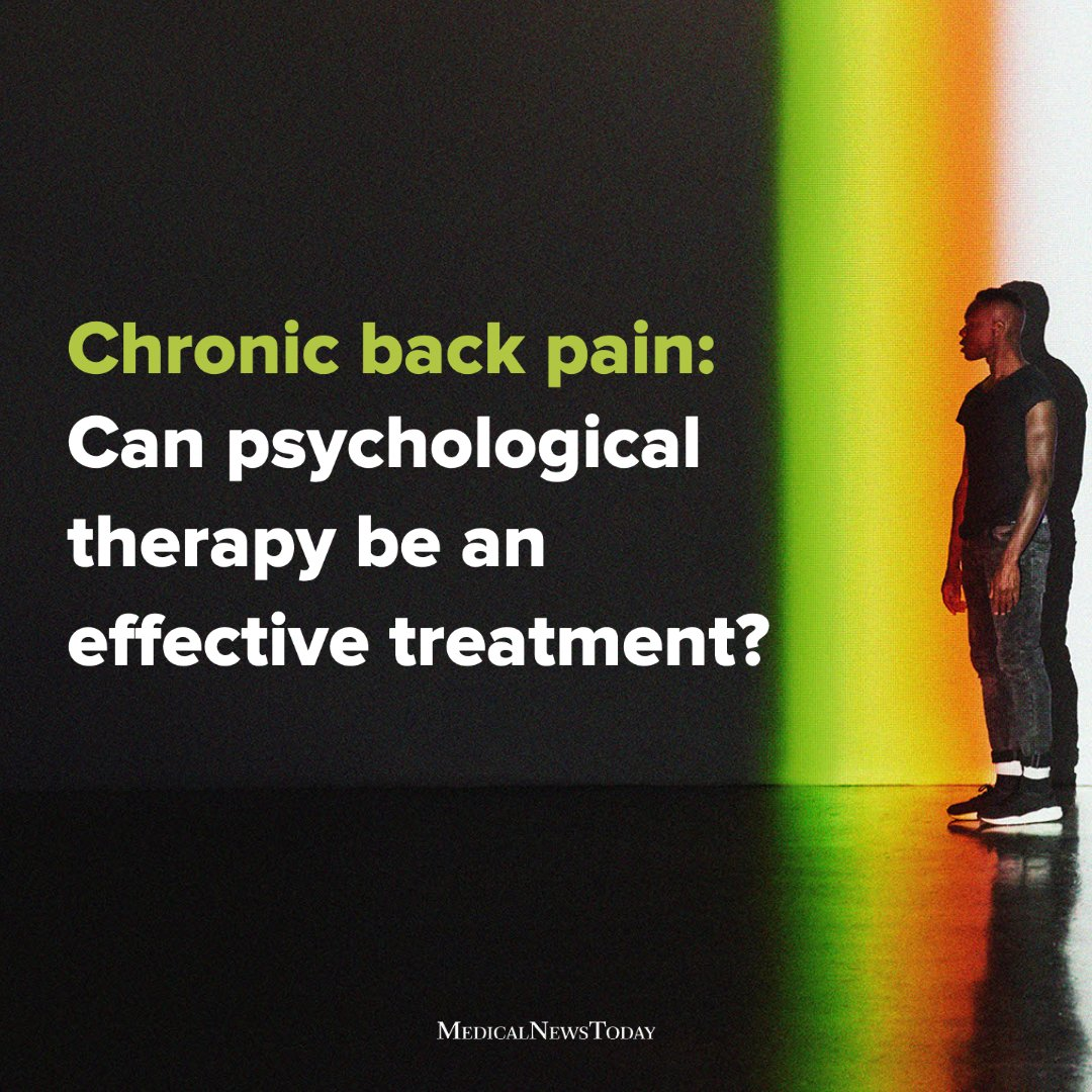 Psychological therapy may effectively treat chronic low back pain