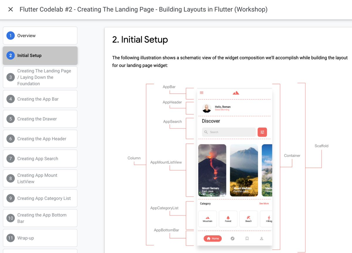 🤖🛠 Uplevel your #UI building skills with @drcoderz Follow along or host your own workshop with these FREE Flutter codelabs → goo.gle/3FVQl6J
