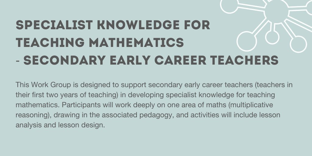 RT @NNWMathsHub Secondary teacher of mathematics and in your first two years of teaching? All maths hubs offer a funded programme to support you in developing your specialist knowledge. If in our area, the link is https://t.co/83OnePeISm