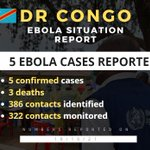 Image for the Tweet beginning: UPDATE: #Ebola in #DRC🇨🇩 Situation
