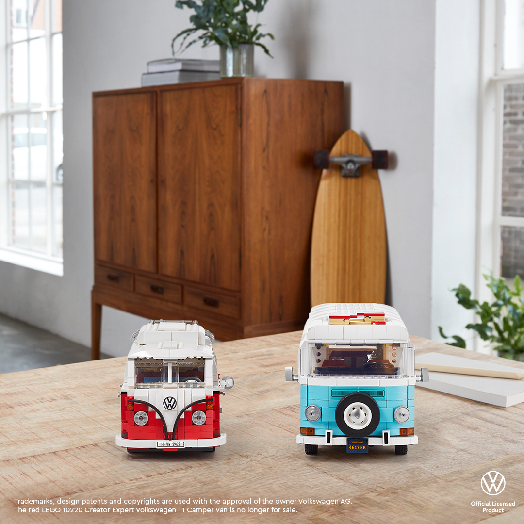 Embrace good vibrations with a new version of a much loved legend. lego.build/T2CamperVanLau… *The LEGO 10220 Volkswagen T1 Camper Van is a retired product.