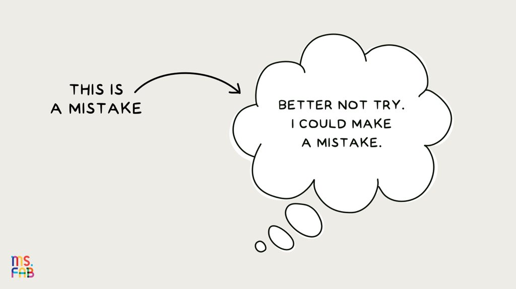 In school, we lose points for our mistakes. In the real world,we learn the most from our mistakes.