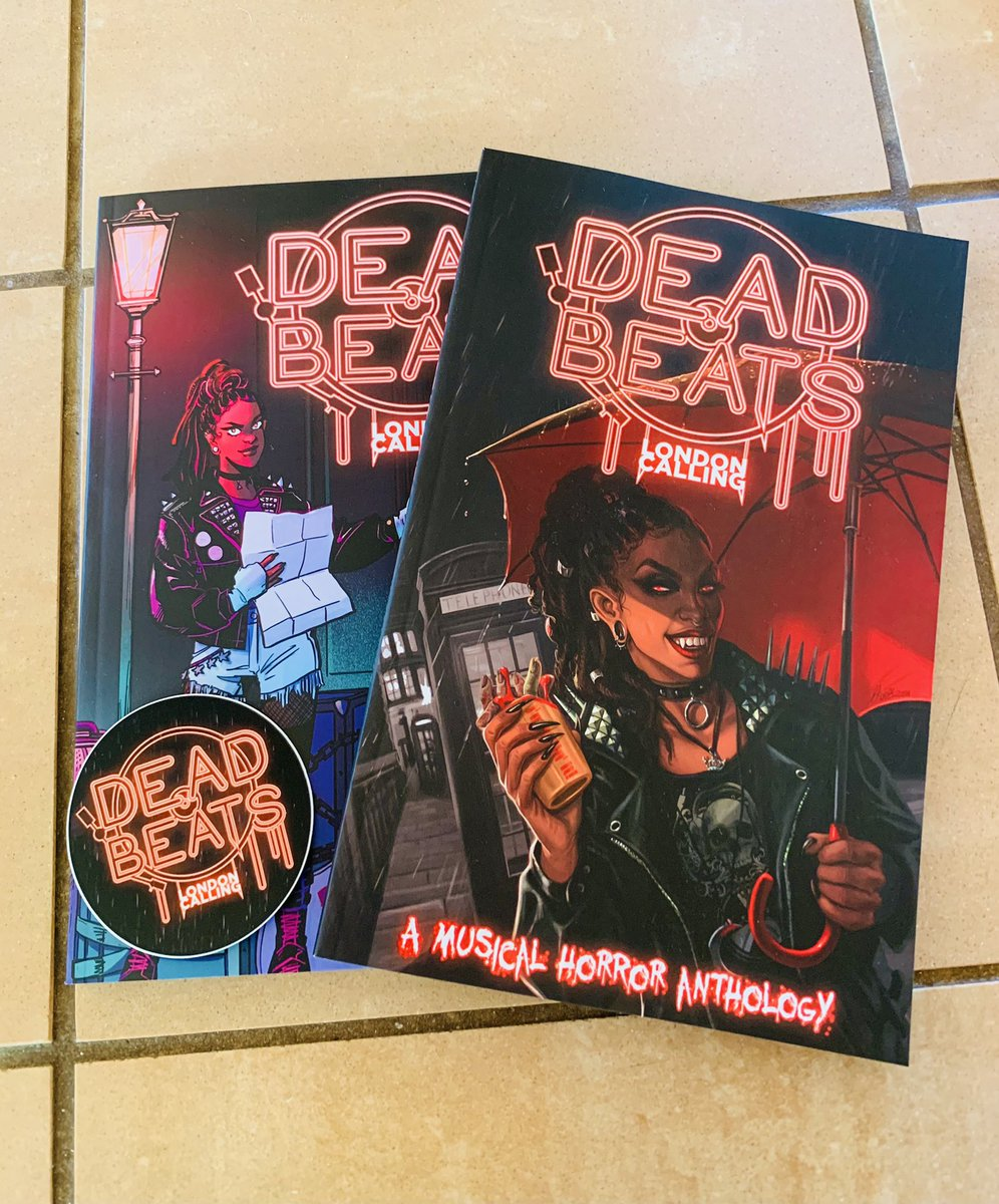 DEAD BEATS: LONDON CALLING bookplates collecting contributor signatures! So far, autographed by @ronmarz, @RioBurtonArtist, @MorganBeem, @TreeBeerd, and @lianakangas ✍️✨ Excited to get these out to Kickstarter backers!! awbw.com/product/dead-b…