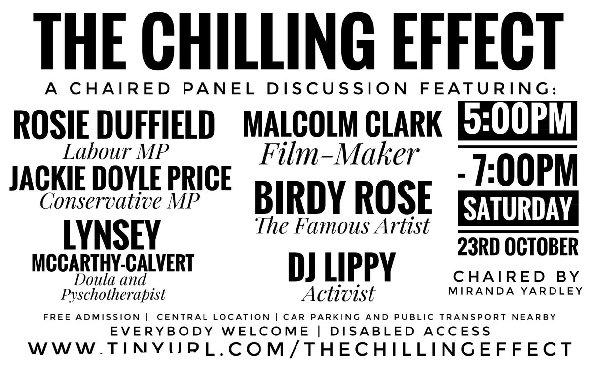 An exciting update!!! The Chilling Effect - Saturday - Leigh on Sea. Given the horrific events here last Friday, we will be holding a tribute to Sir David Amess. We have made the decision to double the amount of security to ensure everyone is safe.