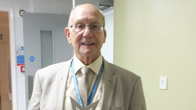 Happy 95th Birthday to one of our oldest volunteers, Tom Walker!🎂 Tom has been volunteering at Queen's Hospital Burton since 2000 and won a Pride of Britain Award in 2014. 🏥 Read more about his journey here: bit.ly/3G0LC3N