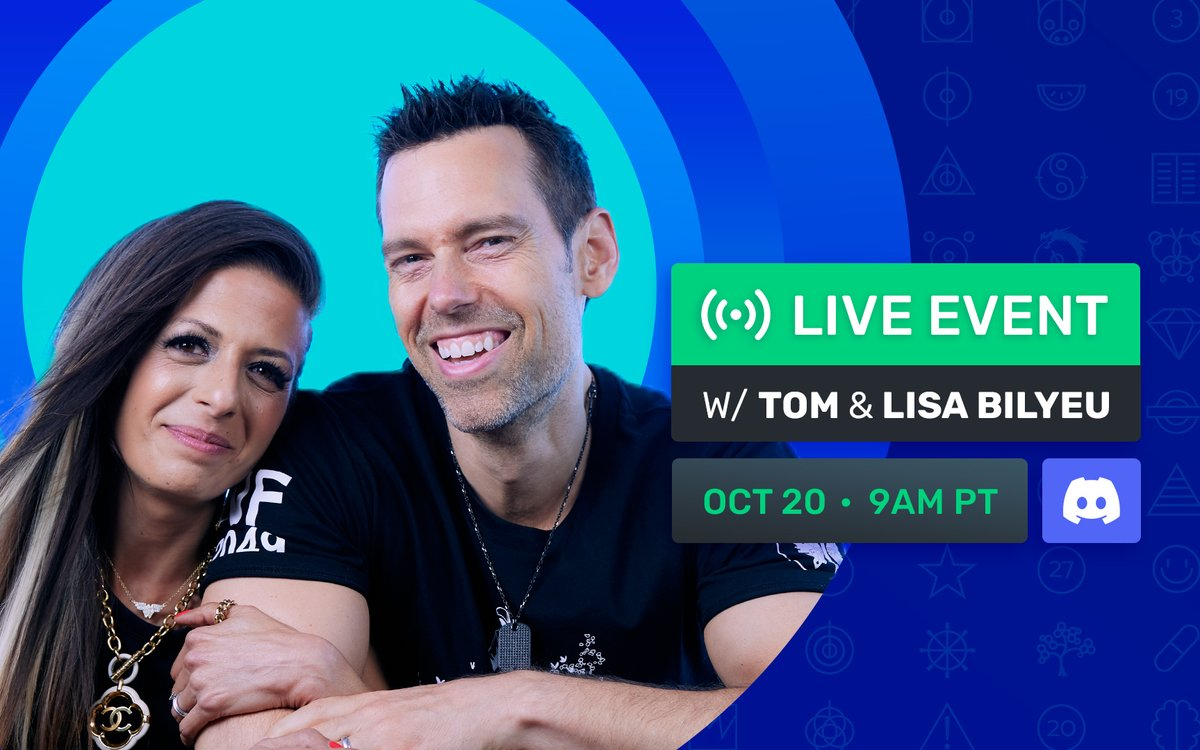 Start your morning with me and @lisabilyeu tomorrow at 9AM Pacific. We will be talking about our Founders Key, our secret symbols and MORE - ImpactTheory.com/Discord