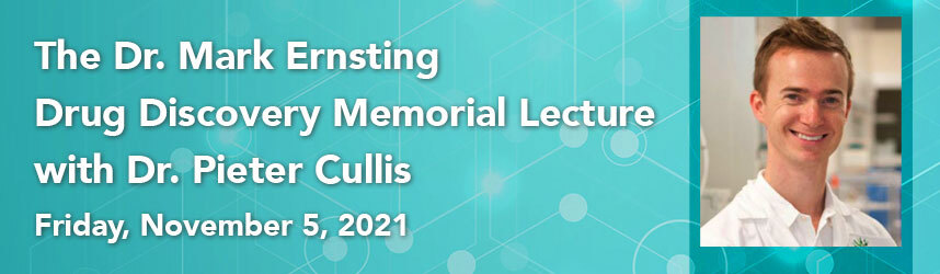 Dr. Pieter Cullis will speak about his lipid nanoparticle discoveries in the context of gene therapies for rare diseases, #COVID19 mRNA vaccines, and personalized #cancer therapeutics as the Dr. Mark Ernsting Drug Discovery Memorial Lecturer. https://t.co/dbP1Y10nYd