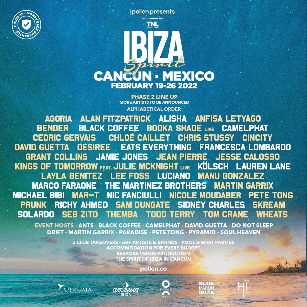 Cancun calling 📞🌴😎 Excited to be joining this awesome lineup in February! plln.io/ibizaspirit-ca… #ListenToThemba #IbizaSpirit