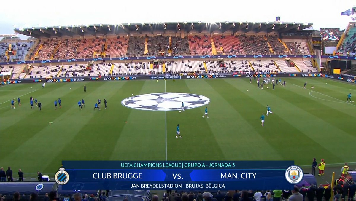 Full match: Club Brugge vs Manchester City
