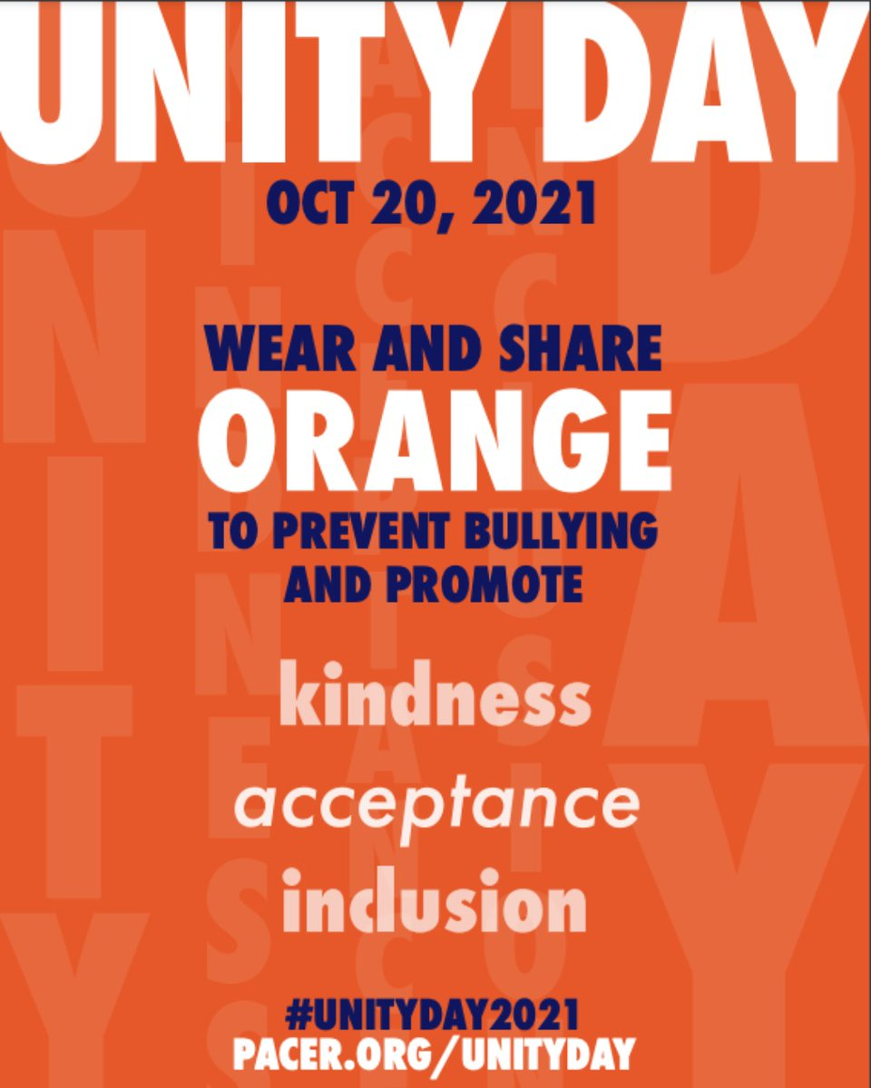 Wear orange tomorrow to bring awareness to bullying prevention. Help us to promote kindness, acceptance and inclusion. <a target='_blank' href='https://t.co/rwc07ZuCsd'>https://t.co/rwc07ZuCsd</a>