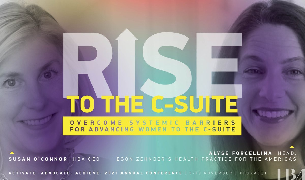 Alyse Forcellina, @EgonZehnder & HBA CEO @Suzmoconnor will engage in an insightful conversation about the importance of self-advocacy, taking risks & building advocacy to advance to the C-Suite. Register 10/22 to save $100/€80! #HBAAC21 #HBAimpact  ow.ly/4zwM50Gu5Z3