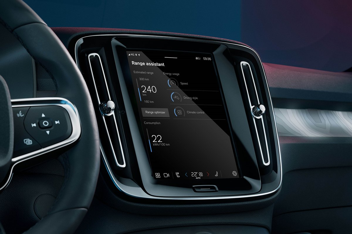 Volvo's new in-car app squeezes every last mile out of your EV's battery