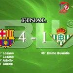Image for the Tweet beginning: Final, resultado engañoso e injusto  @FCBfutbolsala
