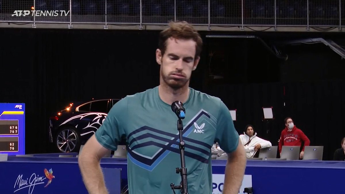 'I think that's the first time in my career I played a 76 67 76. I think it's the longest match I've played by quite a distance. I'm tired right now.'