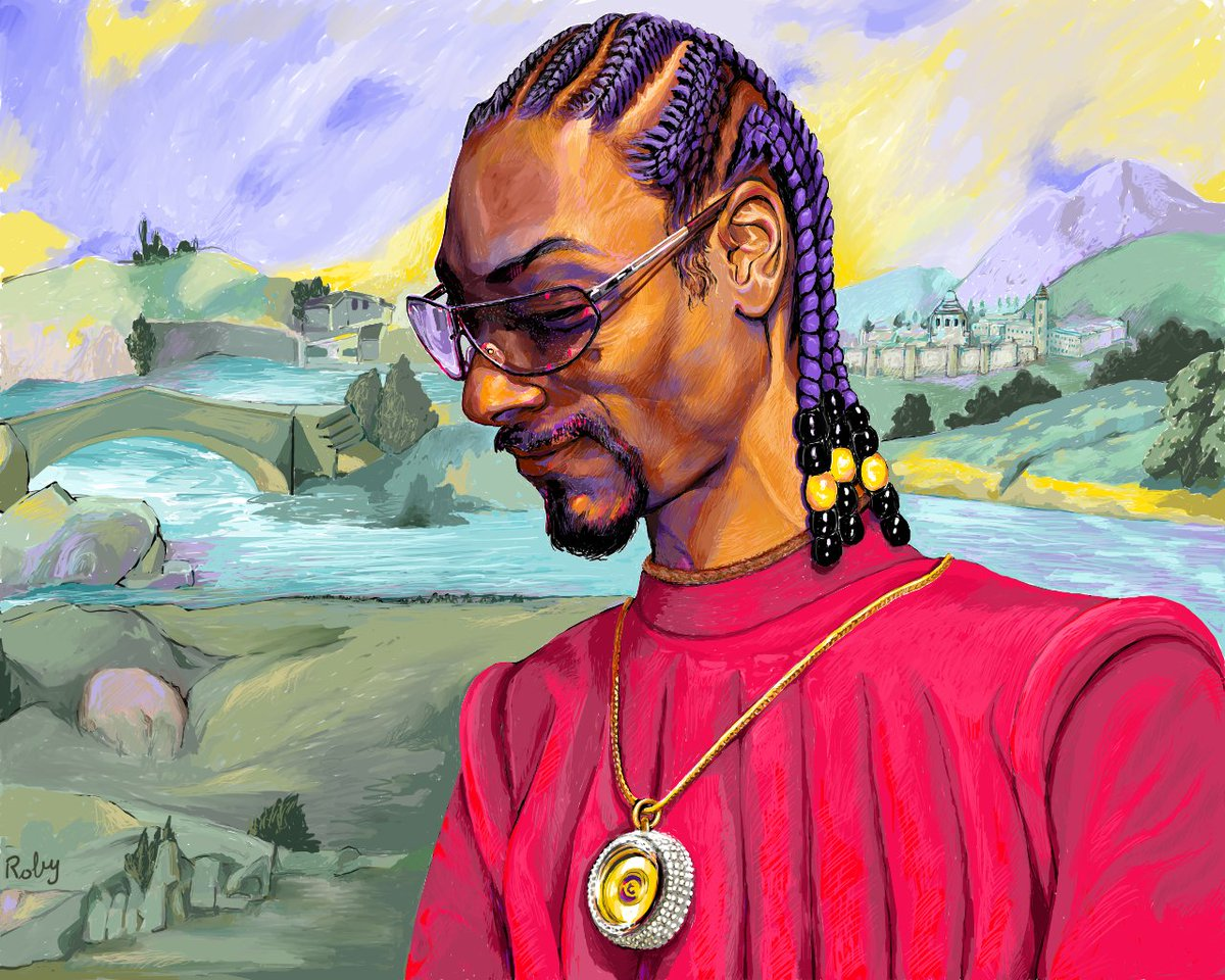 """""""Here Comes the King""""  Carissimo @SnoopDogg  @CozomoMedici , finally I can show you the portrait I made for a very special day which is your fiftieth birthday. I hope it's to your liking. A big hug from your Italian friend. Siapou"""