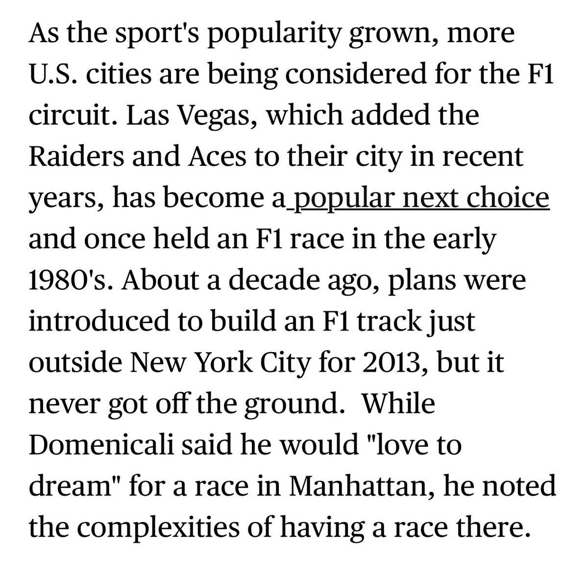 """🎰 Las Vegas et #F1 : « Le gouverneur du Nevada [...] a confirmé qu'il faisait partie de la délégation présente au COTA : """"J'ai eu l'occasion de parler avec les dirigeants de la F1 et j'apprécie qu'ils aient pris du temps pour nous."""" » Il a ainsi pu parler avec Domenicali."""