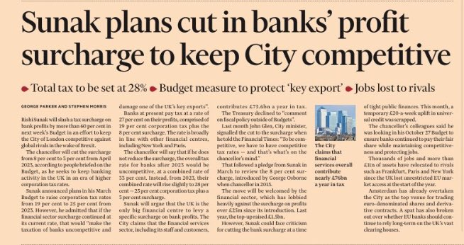 Oh yeah, much more important to keep the 'city competitive' than help working families survive.  A greater need for food banks is this governments idea of levelling up.