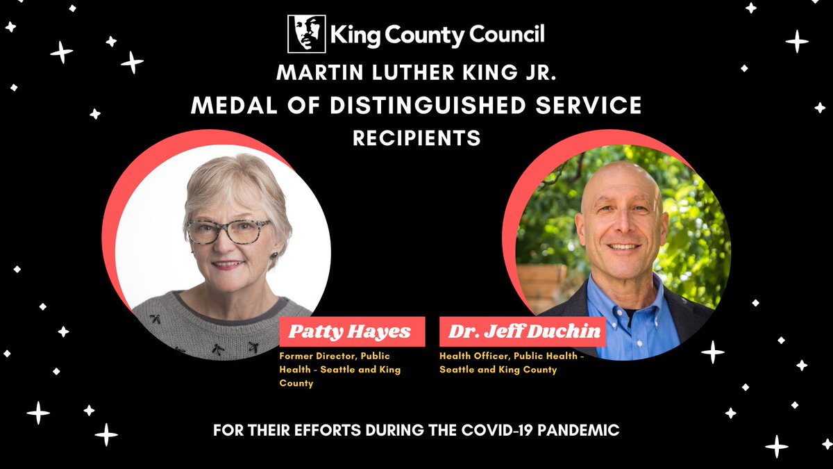 So proud of @PurpleHayesRN and @DocJeffD, who were awarded the MLK Medal for Distinguished Service by the @KCCouncil for their incredible leadership throughout the #COVID19 pandemic.