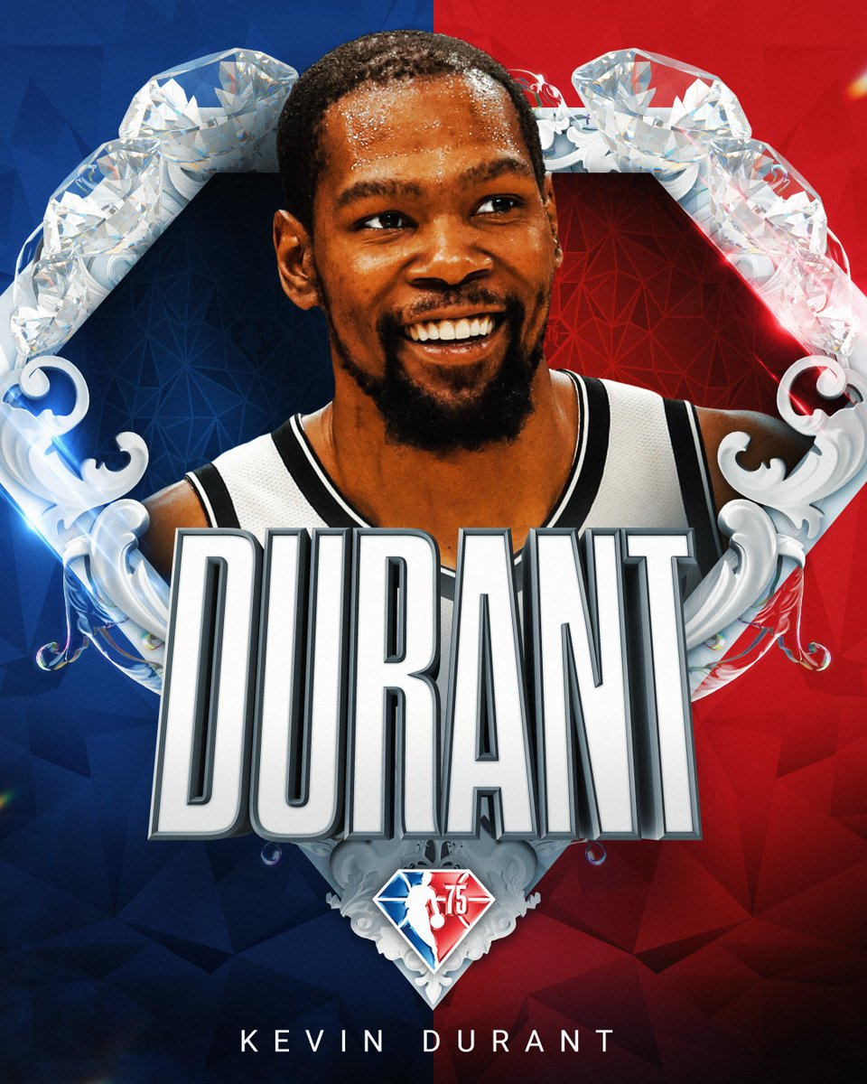 Selected to the NBA's 75th Anniversary Team... Kevin Durant! #NBA75