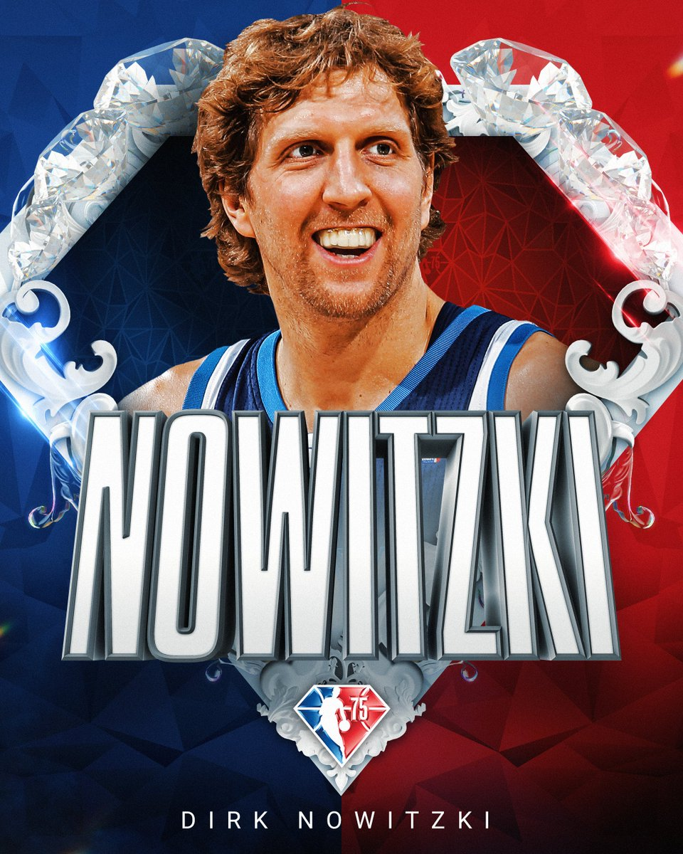 Selected to the NBA's 75th Anniversary Team... Dirk Nowitzki! #NBA75