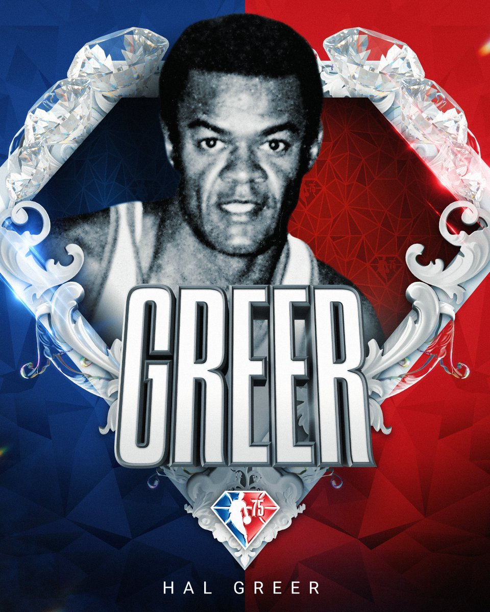 Selected to the NBA's 75th Anniversary Team... Hal Greer! #NBA75
